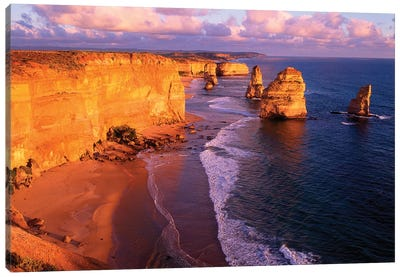 The Twelve Apostles At Sunset II, Port Campbell National Park, Victoria, Australia Canvas Print #HGA1