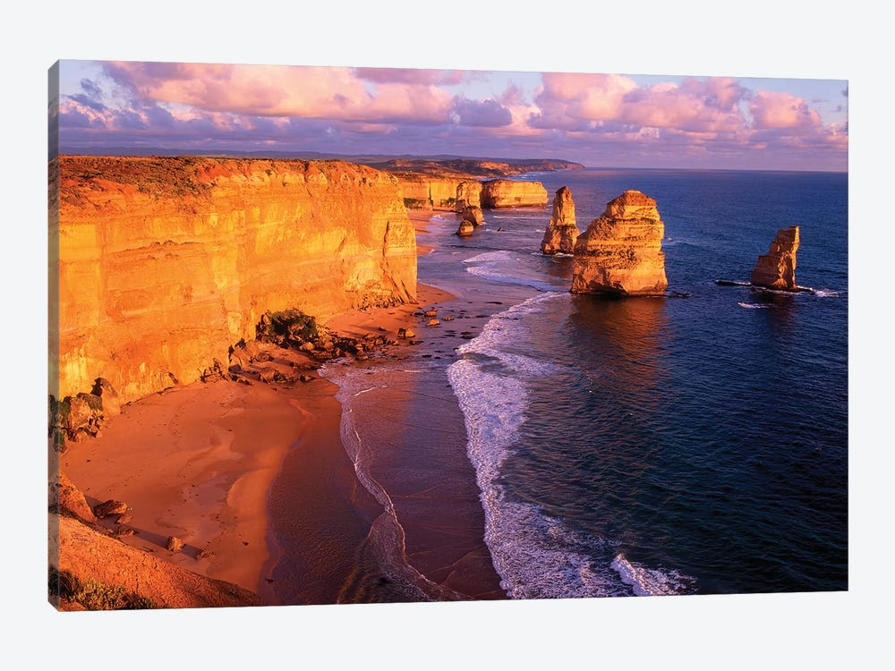 The Twelve Apostles At Sunset II, Port Campbell National Park, Victoria, Australia by Howie Garber 1-piece Canvas Art Print