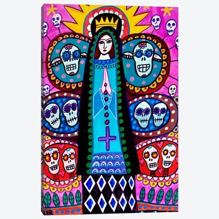 Day of the Dead Mexical Tree of Life Canvas Print #HGL10} by Heather Galler Canvas Art