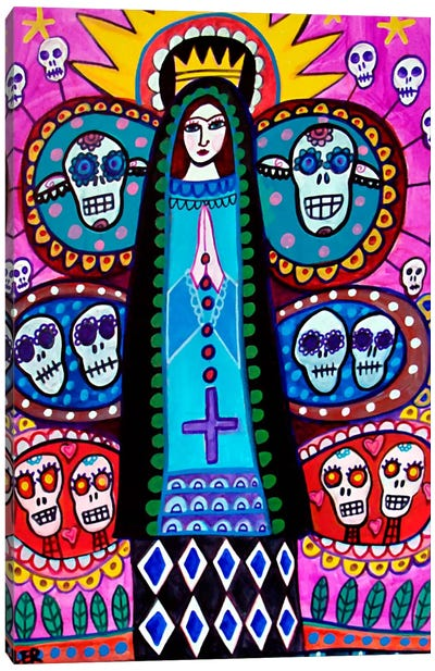 Day of the Dead Mexical Tree of Life Canvas Art Print