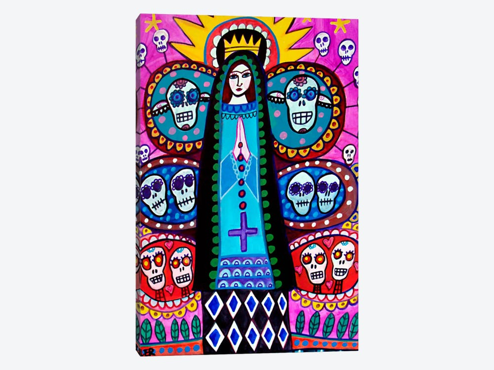 Day of the Dead Mexical Tree of Life by Heather Galler 1-piece Canvas Art Print