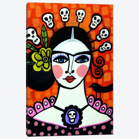 Day of the Dead VI Canvas Print #HGL11} by Heather Galler Canvas Artwork