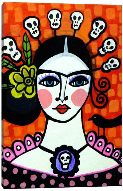 Day of the Dead VI Canvas Print #HGL11