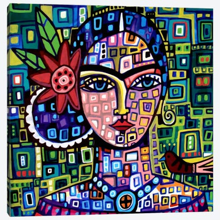 Frida  Canvas Print #HGL12} by Heather Galler Canvas Artwork