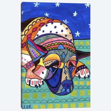 Akita 3 Canvas Print #HGL17} by Heather Galler Canvas Print