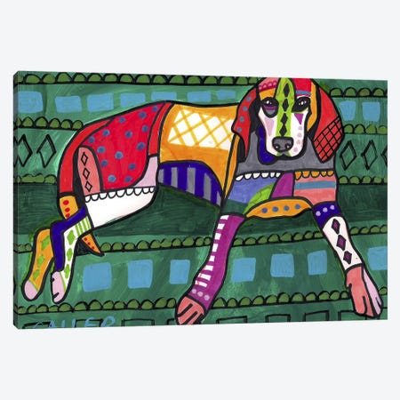 American Coonhound 16  Canvas Print #HGL18} by Heather Galler Canvas Artwork