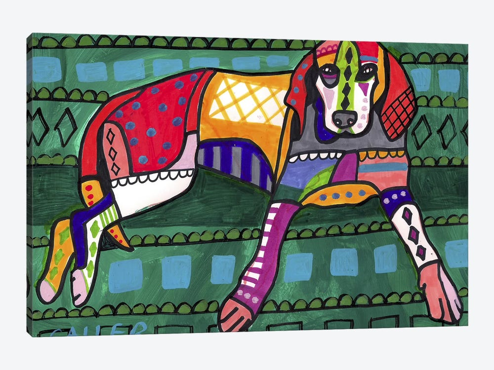 American Coonhound 16  by Heather Galler 1-piece Canvas Art Print