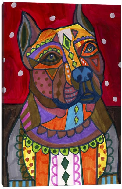 American Staffordshire Canvas Art Print