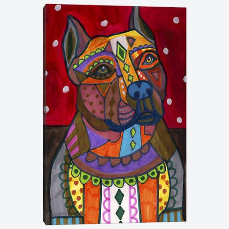American Staffordshire Canvas Print #HGL19} by Heather Galler Canvas Artwork