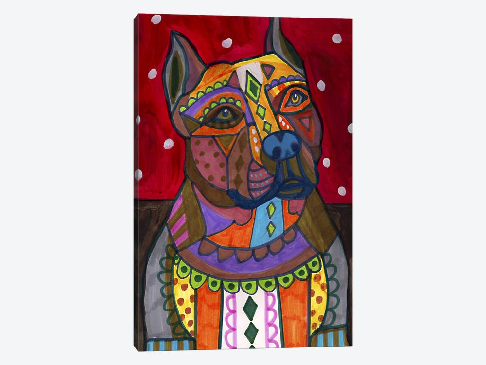 American Staffordshire by Heather Galler 1-piece Canvas Artwork