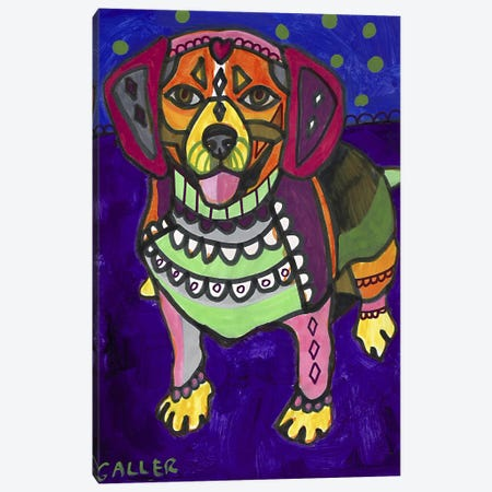 Beagle Begalpurp Canvas Print #HGL20} by Heather Galler Canvas Art Print