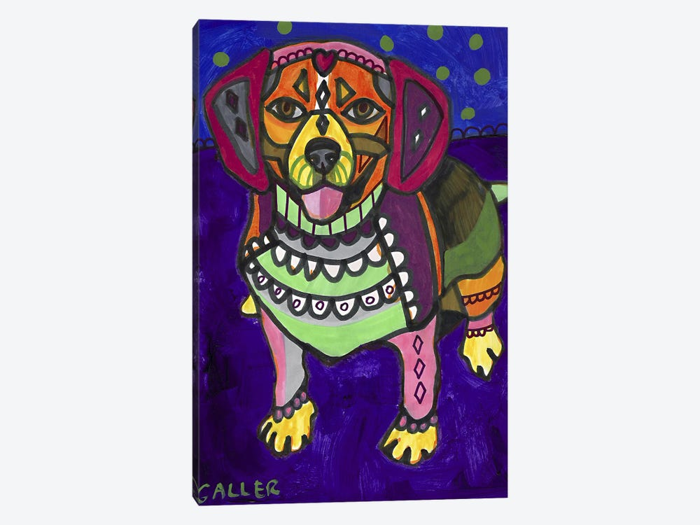 Beagle Begalpurp by Heather Galler 1-piece Canvas Artwork