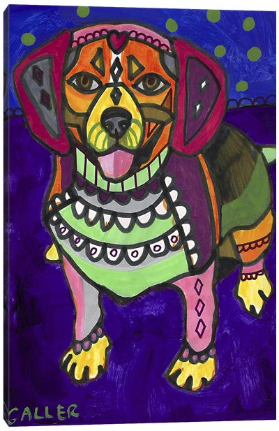 Beagle Begalpurp Canvas Art Print