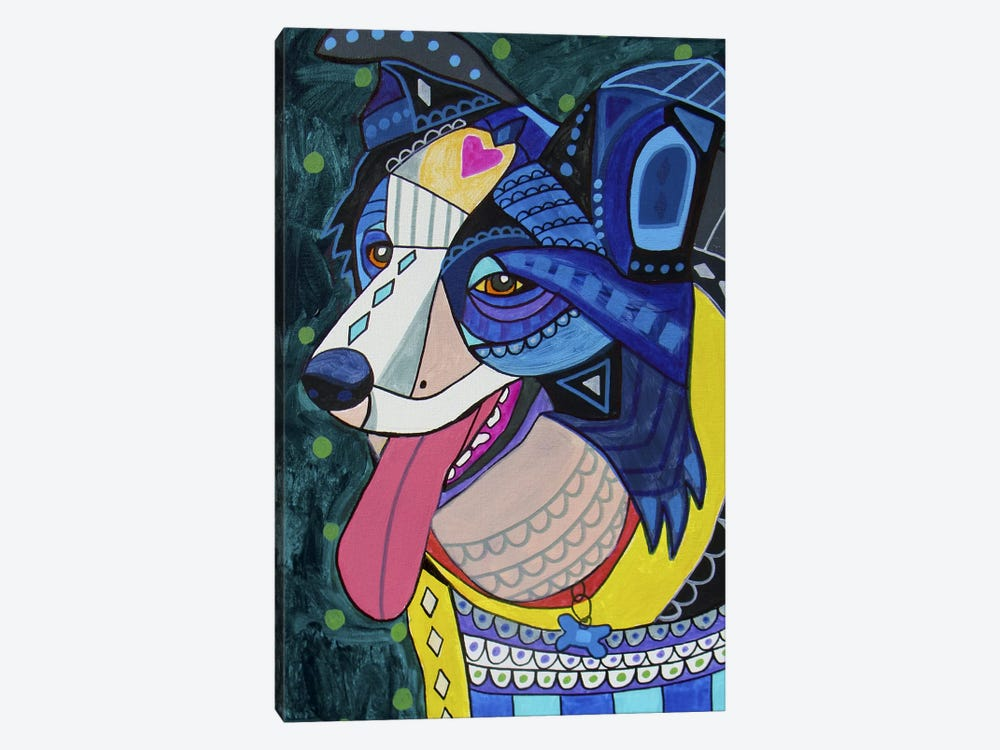 Border Collie 16 by Heather Galler 1-piece Canvas Wall Art