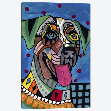 Catahoula  Canvas Print #HGL23} by Heather Galler Art Print