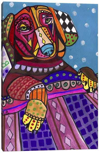 Dachshunds Dachbed Canvas Art Print