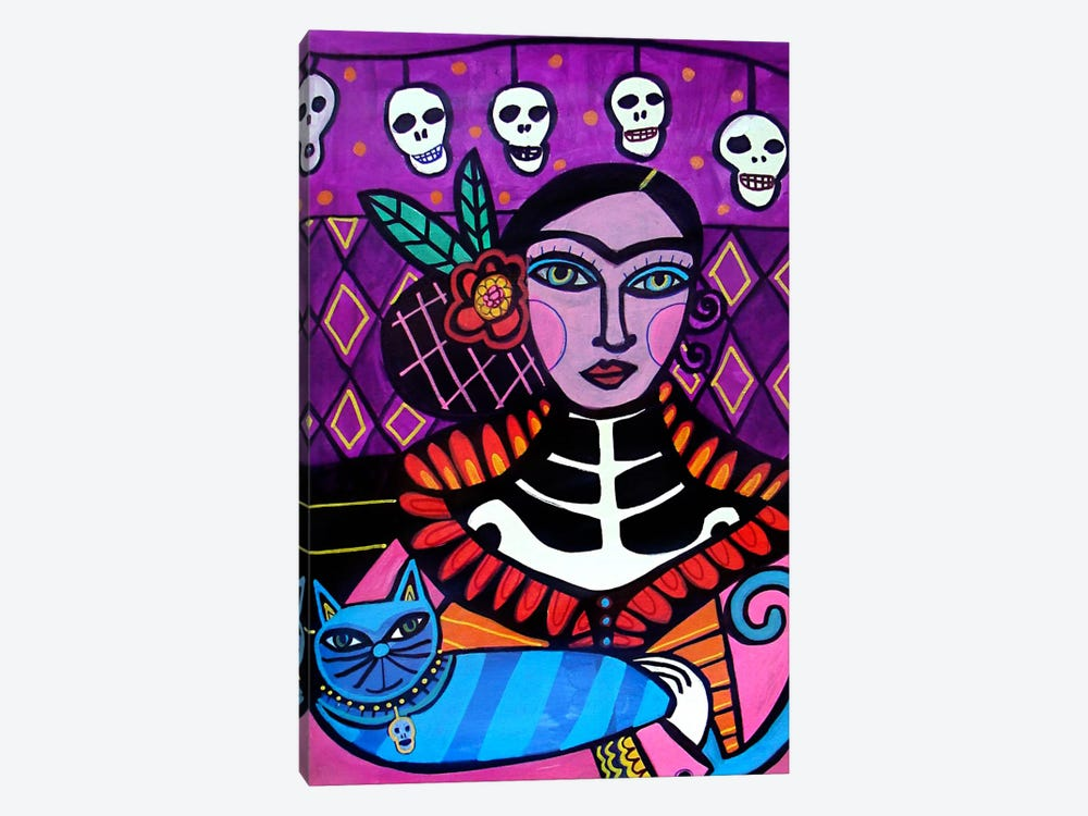 Day of the Dead II by Heather Galler 1-piece Canvas Print