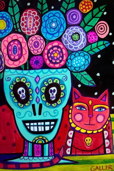 day of the dead flower canvas print by heather galler icanvas