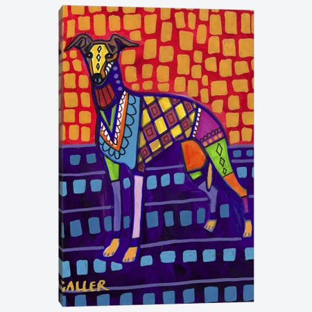 Greyhound Whip Canvas Print #HGL32} by Heather Galler Canvas Artwork
