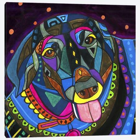 Labradors Black Lab Canvas Print #HGL34} by Heather Galler Canvas Print