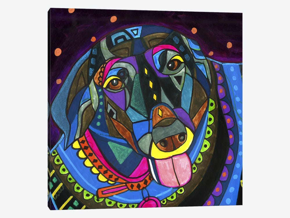 Labradors Black Lab by Heather Galler 1-piece Art Print