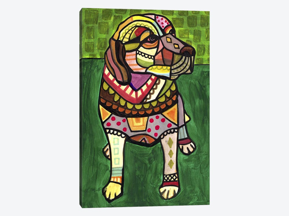 Labradors Labcom by Heather Galler 1-piece Canvas Artwork