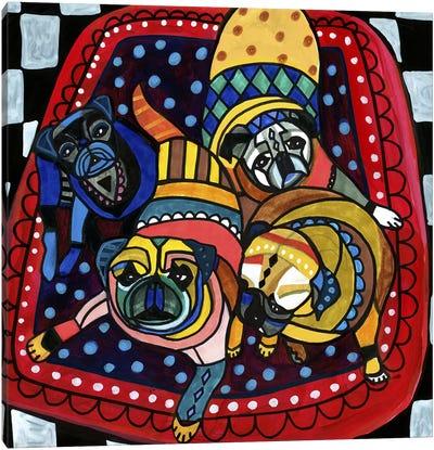 Pug Pugs 4 Canvas Art Print