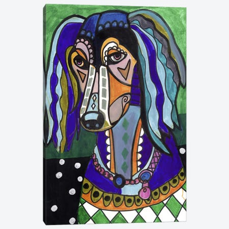 Saluki Canvas Print #HGL38} by Heather Galler Canvas Art
