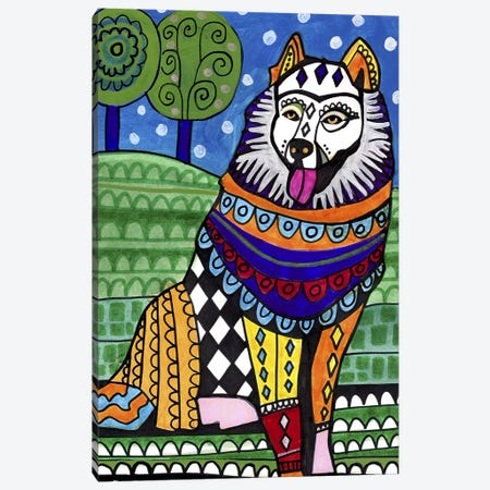 Samoyed Canvas Print #HGL39} by Heather Galler Canvas Wall Art
