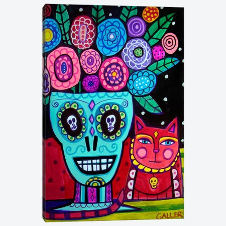 Day of the Dead Flower Canvas Print #HGL3} by Heather Galler Art Print