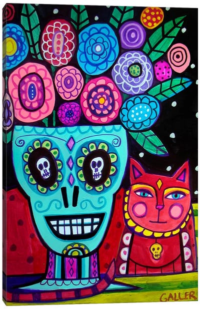 Day of the Dead Flower Canvas Print #HGL3