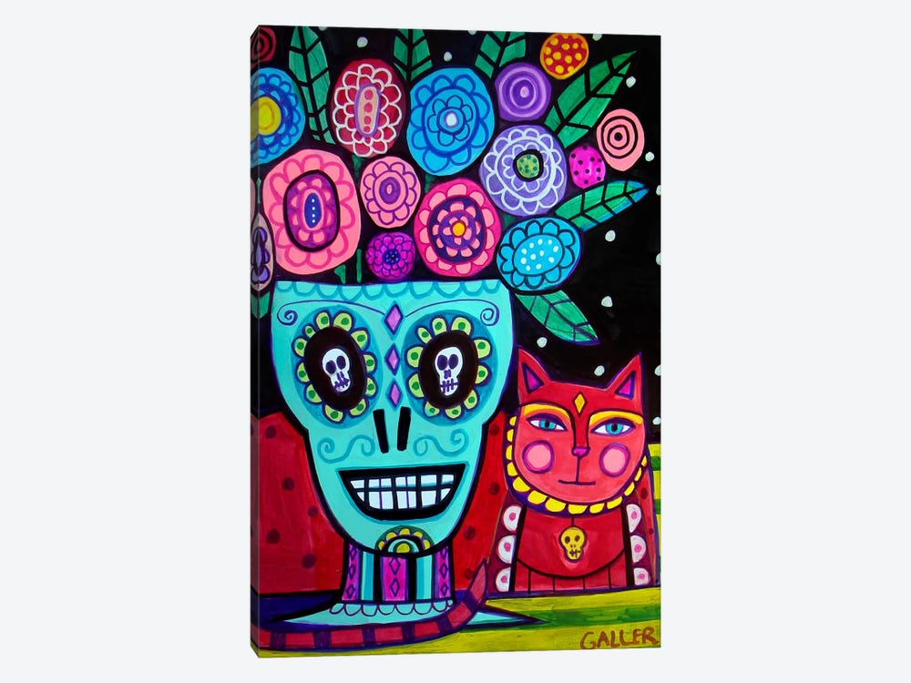 Day of the Dead Flower by Heather Galler 1-piece Canvas Wall Art
