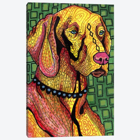 Vizsla Canvas Print #HGL43} by Heather Galler Canvas Art Print