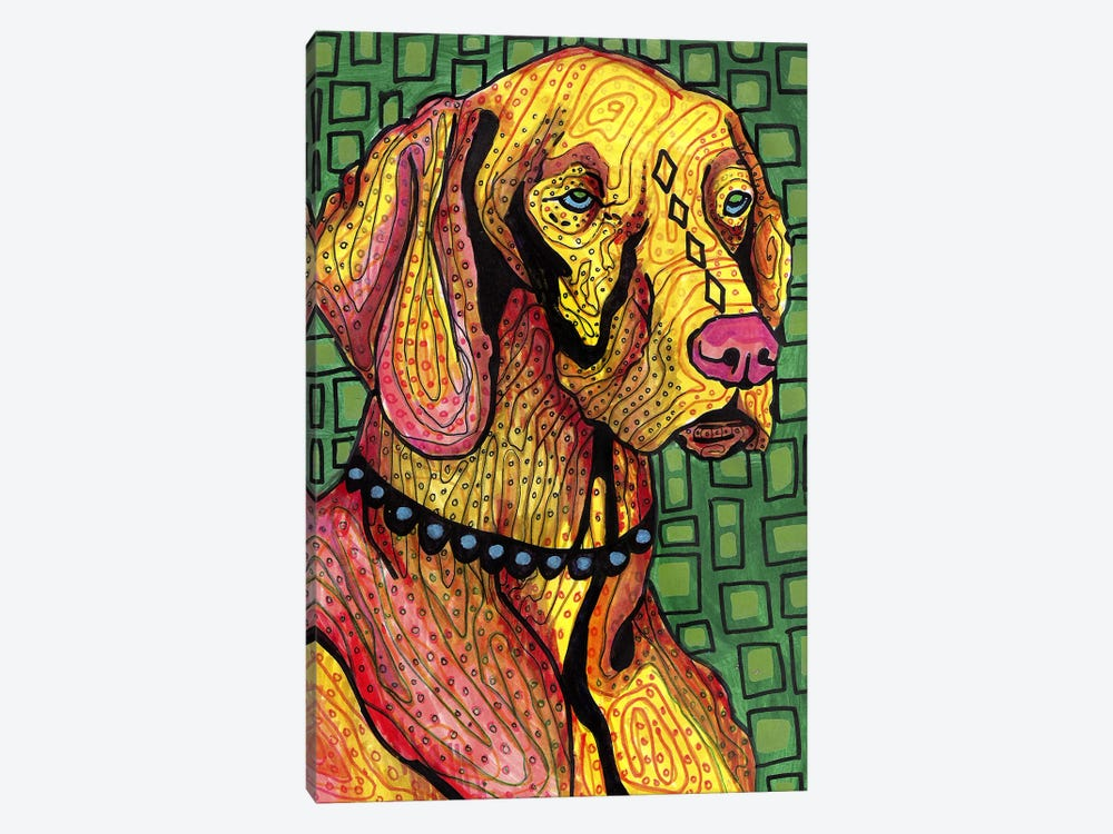 Vizsla by Heather Galler 1-piece Canvas Print