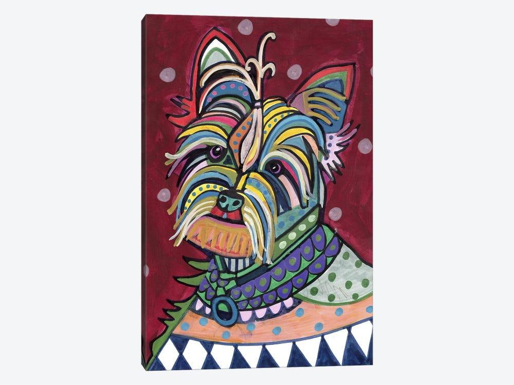 Yorkie by Heather Galler 1-piece Canvas Artwork