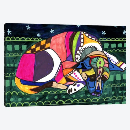Akita V Canvas Print #HGL54} by Heather Galler Art Print