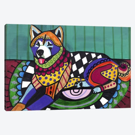 Akita  Canvas Print #HGL56} by Heather Galler Canvas Art Print