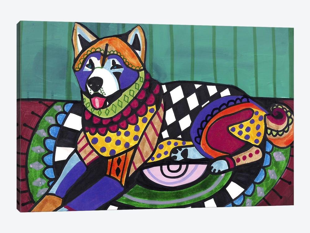 Akita  by Heather Galler 1-piece Canvas Art Print