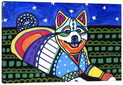 American Eskimo Maly Canvas Print #HGL57