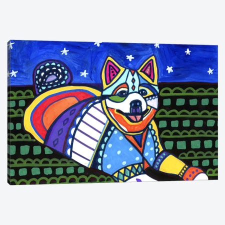 American Eskimo Maly Canvas Print #HGL57} by Heather Galler Canvas Art Print
