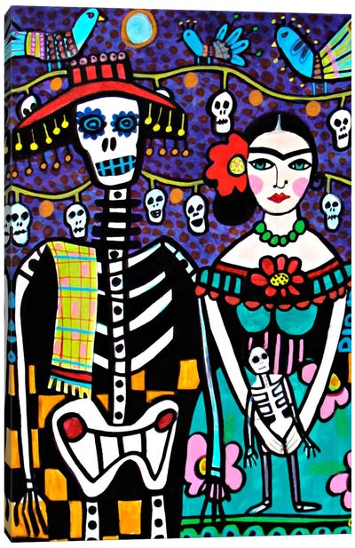 Day of the Dead Frida Canvas Print #HGL5