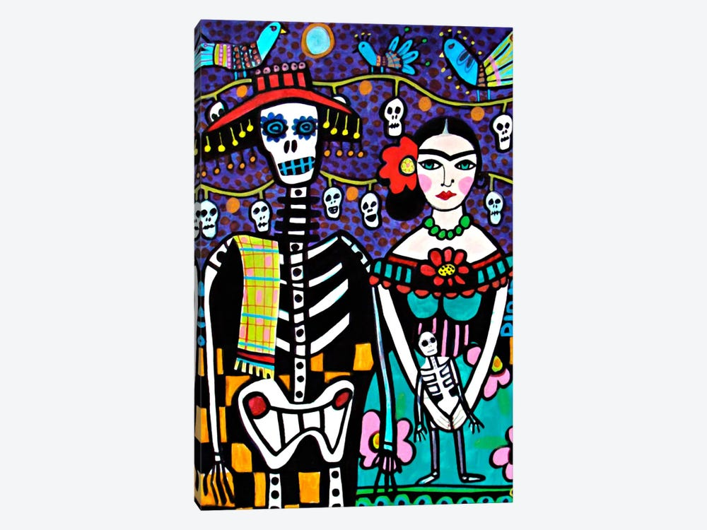Day of the Dead Frida 1-piece Canvas Artwork