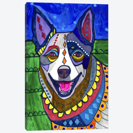 Australian Cattle Dog Canvas Print #HGL60} by Heather Galler Canvas Print