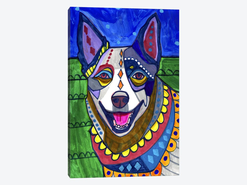 Australian Cattle Dog by Heather Galler 1-piece Canvas Art