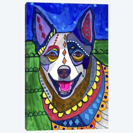 Australian Cattle Dog Canvas Print #HGL60} by Heather Galler Canvas Print