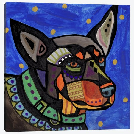 Australian Kelpie Canvas Print #HGL61} by Heather Galler Art Print