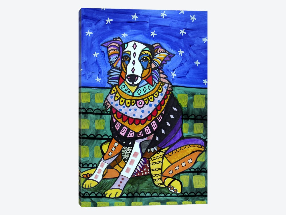 Australian Shepherd Lola by Heather Galler 1-piece Art Print
