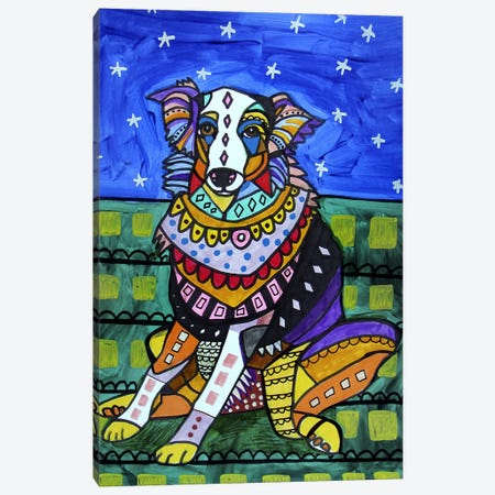 Australian Shepherd Lola Canvas Print #HGL63} by Heather Galler Canvas Art Print