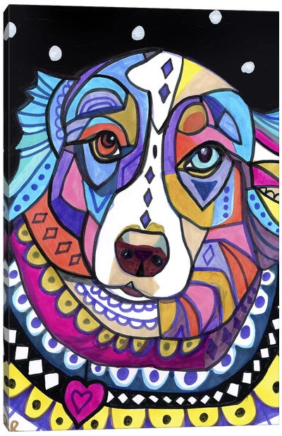 Australian Shepherd Shep Canvas Print #HGL65
