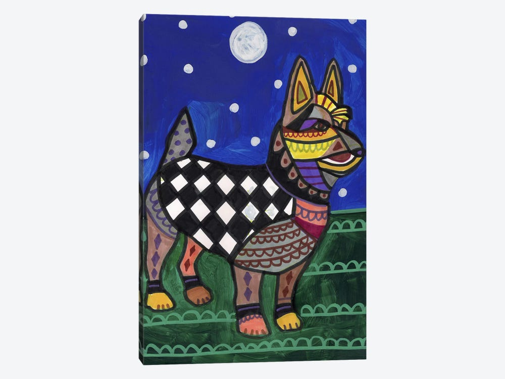 Australian Terrier by Heather Galler 1-piece Canvas Print